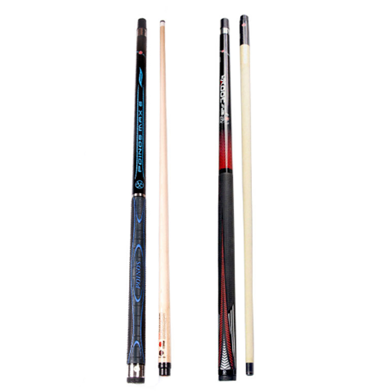 Promotion POINOS Pool Cue Stick 12 75mm with Break Cue Punch Jump Cue Red White Yellow