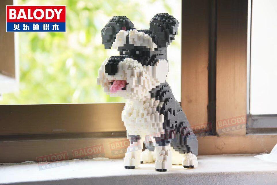 Micro Blocos Modelo brinquedos de Montagem de Brinquedo tijolos Pequenos dachshund Cão schnauzer Rouca action figure Crianças brinquedos Presentes para crianças