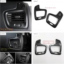 Lapetus Accessories For Jeep Compass 2017 2018 2019 ABS Front Dashboard Air Conditioning AC Outlet Vent Molding Cover Kit Trim lapetus accessories for peugeot 5008 gt 2017 2018 abs rear armrest box air conditioning ac vent outlet molding cover kit trim
