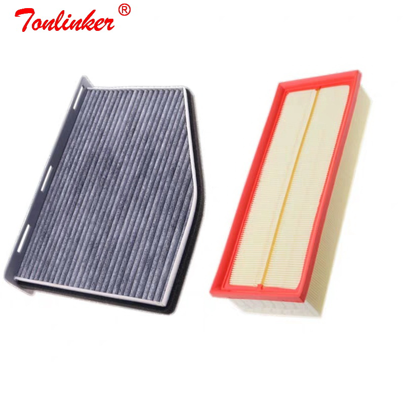 Cabin Air Filter Set For Volkswagen SHARAN TIGUAN TOURAN CC EOS GOLF 5 6 CADDY JETTA3 4 Model 2004 2008 09 2016 Car Accessories-in Air Filters from Automobiles & Motorcycles