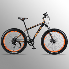 Flying Leopard bicycle Mountain Bike road bike Aluminum alloy frame 26 #215 4 0 7 21speed Frame Snow Beach Oversized Bicycle Bikes cheap Unisex Front and Rear Mechanical Disc Brake Spring Fork (Low Gear Non-damping) Ordinary Pedal Hard Frame (Non-rear Damper)