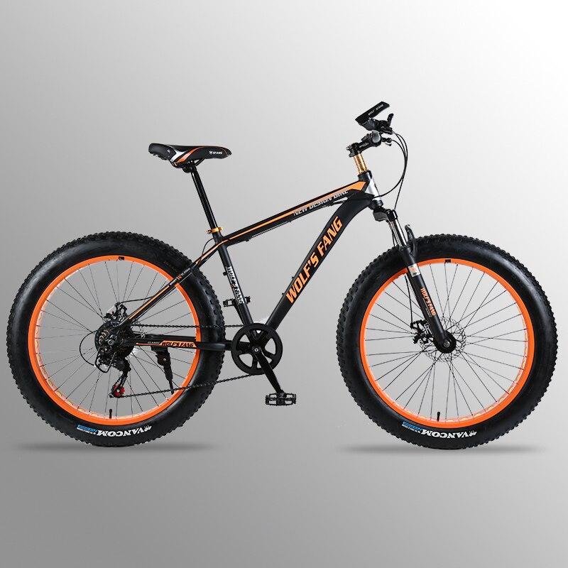Vélo Vtt vélo de route En alliage D'aluminium cadre 26x4.0 7/21 vitesse Cadre Neige Plage Surdimensionné pneu de vélo Motos Pour