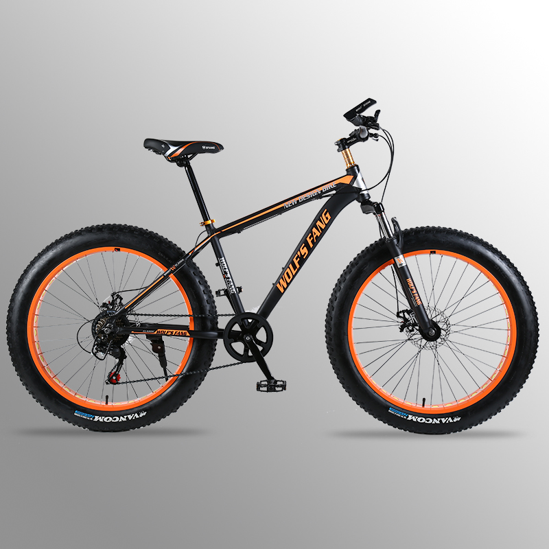 "bicycle Mountain Bike road bike Aluminum alloy frame 26x4.0"" 7/21speed Frame Snow Beach Oversized Bicycle Tire Dirt Bikes For"