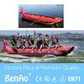 B004 Frete grátis 6 Passageiros Na Linha de Barco de Banana/barco inflável de tubarão vermelho/inflável flyfish banana boat para jogos de água