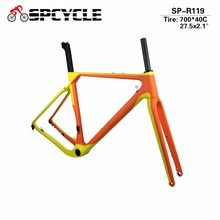 Spcycle 2018 Aero Carbon Road MTB Bike Frame Cyclocross Bicycle Frame Disc Bike Carbon Gravel frame