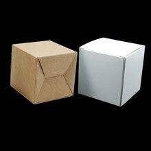 40pcs / Παρτίδα 5 * 5 * 5cm Χαρτί Kraft Μικρό Πτυσσόμενο Συσκευασία Κουτί Box κοσμήματα DIY Δώρα Συσκευασία χαρτιού Κουτιά χειροτεχνίας για πάρτι γενεθλίων