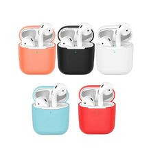 Universal Silicone Earphone Headphone Case Protective Cover Case for Airpods 1/2 Wireless Bluetooth Headset original hoco epb04 universal business wireless bluetooth v4 1 headphone earphone