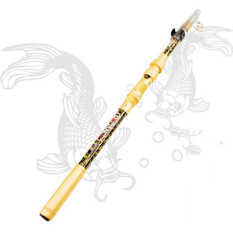Matt Gold Fiberglass Sea Bass Handkerchief Light Control Fish Corrosion Resistant Metal Wheel Outdoor Fishing Rod