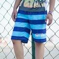 2017 Nueva llegada Soft Homme Transpirable hombres de Secado rápido Shorts Cómodo Desgaste de la Playa de Los Hombres Shorts Boxer Rayado
