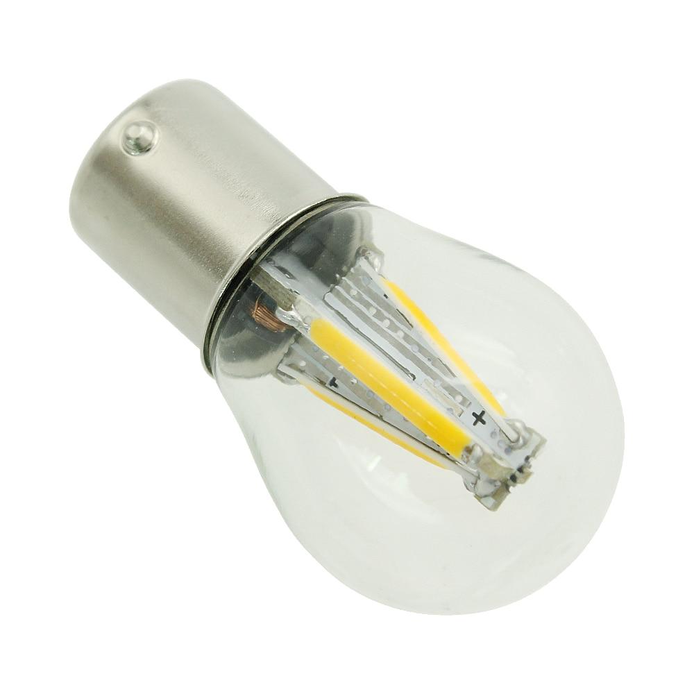 HTB1ZGBAMkzoK1RjSZFlq6yi4VXaO 1pcs 1156 P21W BA15S 1157 BAY15D COB LED Filament Chip Car Brake Lights Auto Reverse Bulb Parking Lamp 12V Red White Yellow