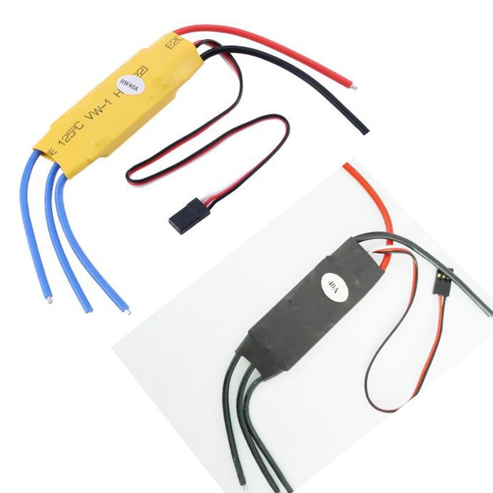Registro de envío 4 unids/lote RC helicóptero 40A Speed Controller RC ESC ubec 4A 50A para RC quadcopter drone parte accesorio
