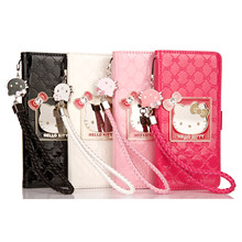 Fashion Style For iPhone 6 6s 7 8 Pus X XR XS Max Case Luxury Wallet Hello Kitty Magnetic Flip PU Leather Cover Mobile Phone bag(China)