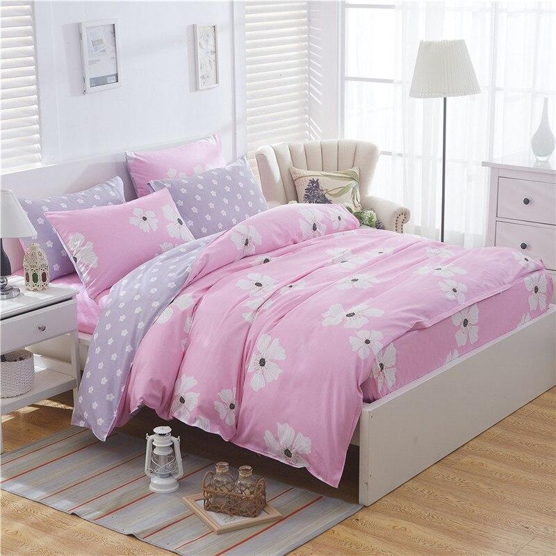 Home textile Fashion Art Flower Pink Bedding Sets Elegant Duvet Cover Set Pillowcase Active Printing Bed Cover 3/4PCS Multi SizeHome textile Fashion Art Flower Pink Bedding Sets Elegant Duvet Cover Set Pillowcase Active Printing Bed Cover 3/4PCS Multi Size