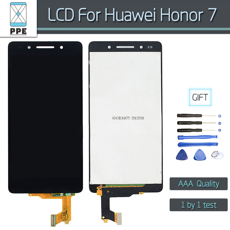 Original LCD screen For Huawei Honor 7 LCD Display Touch screen Digitizer without frame Assembly Replacement Gift Tools original lcd for huawei p7 ascend lcd display touch screen assembly 5 inch lcd replacement without frame free tools