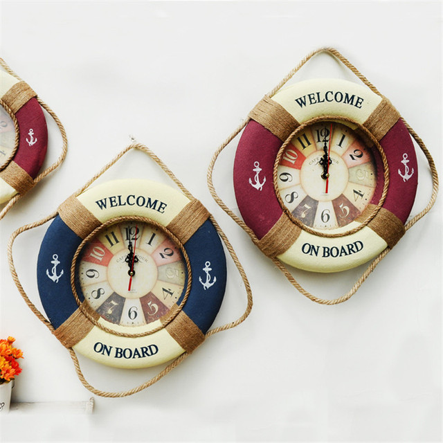 2017 Retro Wall Decoration Watch Vintage Home Decoration Wall Clock With Roman Number Silent Household Decorative Wall Clock