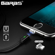 GARAS Magnetic Cable For Lightning Charger Adapter Cable For Iphone iPad Air iPod Mobile Phone Cables