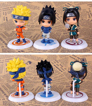Naruto Toy Sasuke Kakashi Sakura Gaara Itachi Madara Killer Bee Model Doll for Kids