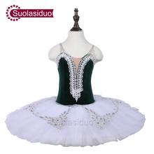Adult Dark Green Ballet Tutu Stage Wear Children Professional Ballet Dresses Costumes Women Ballet Skirt Appreal