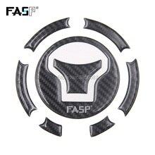 FASP 5D Profissional de fibra de carbono corrida tampa do tanque de combustível Da Motocicleta pad Decalque Adesivo para CB650F CBR1000RR VFR800 Crosstourer1200