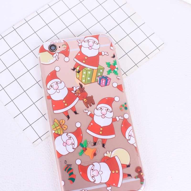 Силиконовые чехлы для телефонов Iphone 7 Plus, 6, 6 S, 5, 5S, SE, 8 Plus, X, XR, XS Max, Рождественский чехол из ТПУ для Huawei P20 Lite, P, умные чехлы