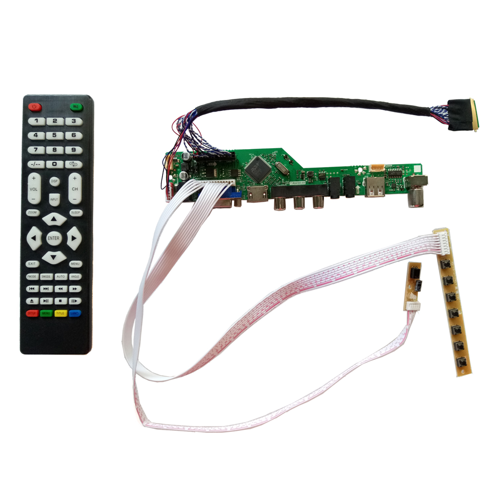 t v56 031 new universal hdmi usb av vga atv pc lcd controller board for 10 1inch 1280x800 lp101wx1 sln2 led lvds monitor kit [ 1000 x 1000 Pixel ]