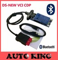 Big Sale ! ds New vci scanner with bluetooth obd obd2 OBDII tcs CDP Pro Plus diagnostic tool work on cars and trucks 3in1