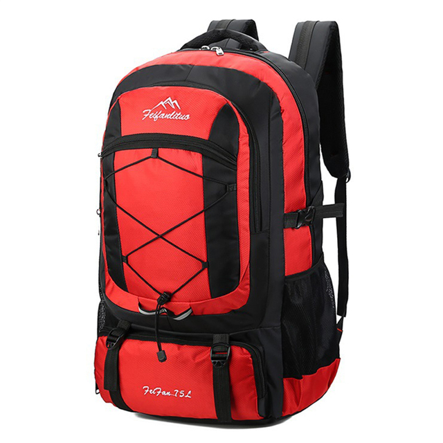 75L Waterproof unisex men backpack travel pack sports bag pack Outdoor Camping Mountaineering Hiking Climbing backpack for male 3