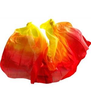 Image 1 - Yeni stil oryantal dans peçe 100% ipek peçe el yapımı kademeli renk peçe özelleştirilebilir