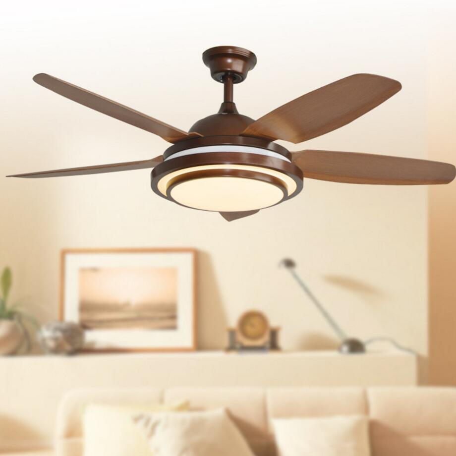 Retro decorative ceiling LED Ceiling Fan With Lights Remote Control 110-240 Volt Fan Light Bulbs Bedroom Fan Lamp Free Shipping free shipping ems pendant lights fashion fan lights brief household ceiling fan lights ceiling type with fan lighting