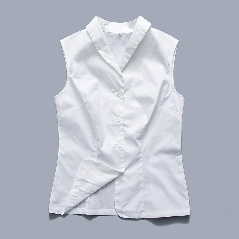 Shirt design new look - Candow Look Woman Rockabilly Design New Fashion Work Wear Office Tops Blouses Summer Turn Down Sleeveless
