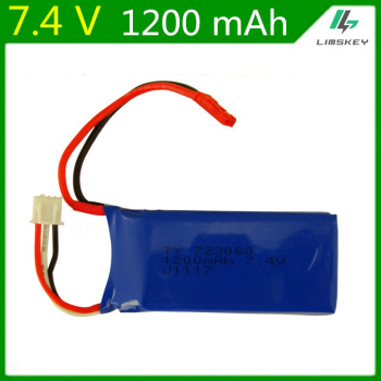 7.4V 1200mAH Lipo Battery For WLtoys V353 V666 RC quadrocopter X6 H16 7.4 V 1200 mAH battery 723060 2S 7.4 Lipo battery image