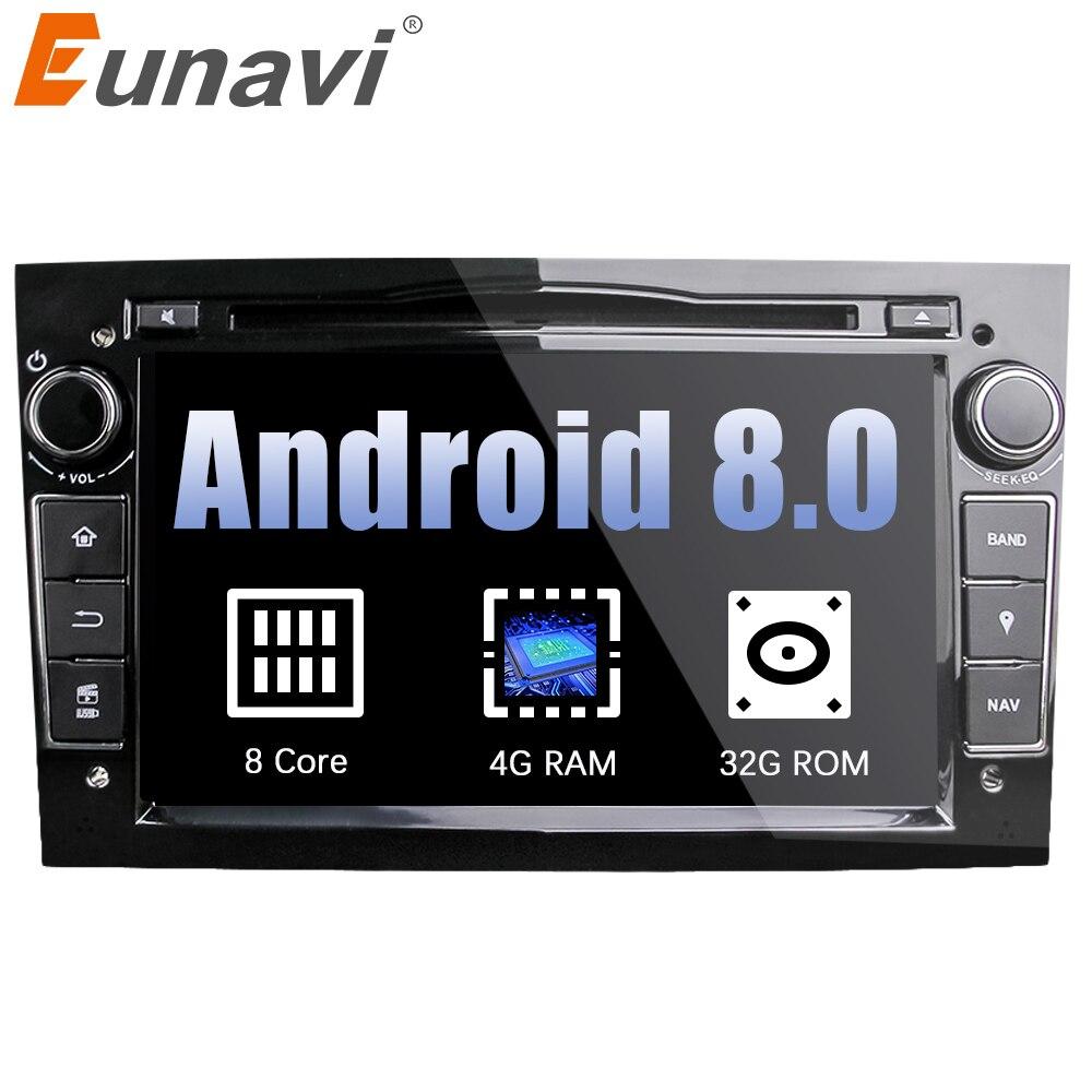 Eunavi Octa Core 7 ''2 Din Android 8.0 1024*600 HD Lecteur DVD de Voiture Pour Opel Astra Vectra antara Zafira Corsa GPS Navigation Radio