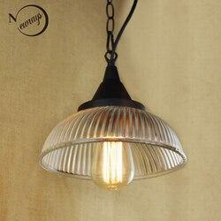 Recyklingu retro wiszące czysta szklanka lampa wisząca z edisona żarówki | kuchnia światła i światła do szafki w Wiszące lampki od Lampy i oświetlenie na