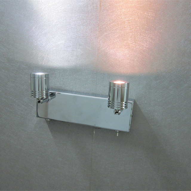 Topoch LED Lights for Home Hard-wired Double 3Watts LED Spots Working Independently Connect only 1xCable out from Wall