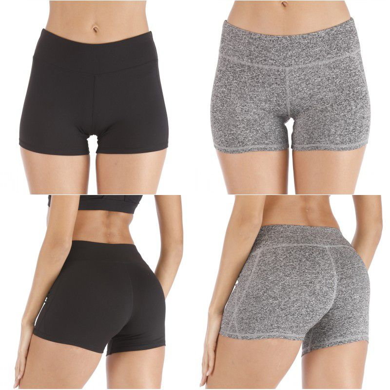 Women Casual Solid Color Quick-Drying Stretch Slim Running High Waist Tight Shorts Ladies Four Seasons Fitness Shorts S/M/L/XL