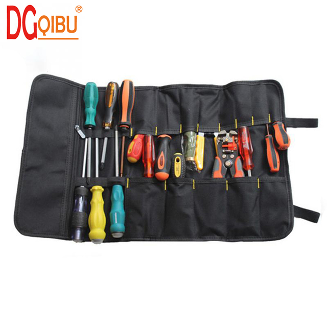 Portable Oxford Canvas Chisel Roll Rolling Repairing Tool Utility Bag Multifunctional With Carrying Handles Brand New