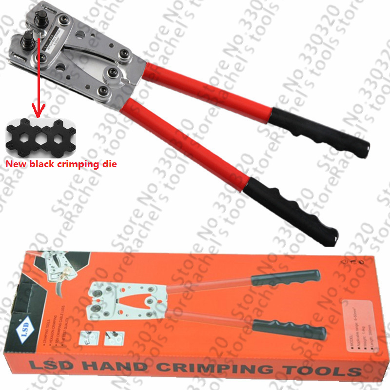 LX-50B hand tools for non-insulated cable links 6-50mm2 terminal crimping tool electrical crimper manual crimping tool