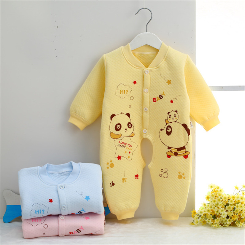 0-9 month Cotton Baby Rompers Wear Jumpsuits Kids panda baby boy clothes newborn infant baby girl costumes clothing SKA04 (1)