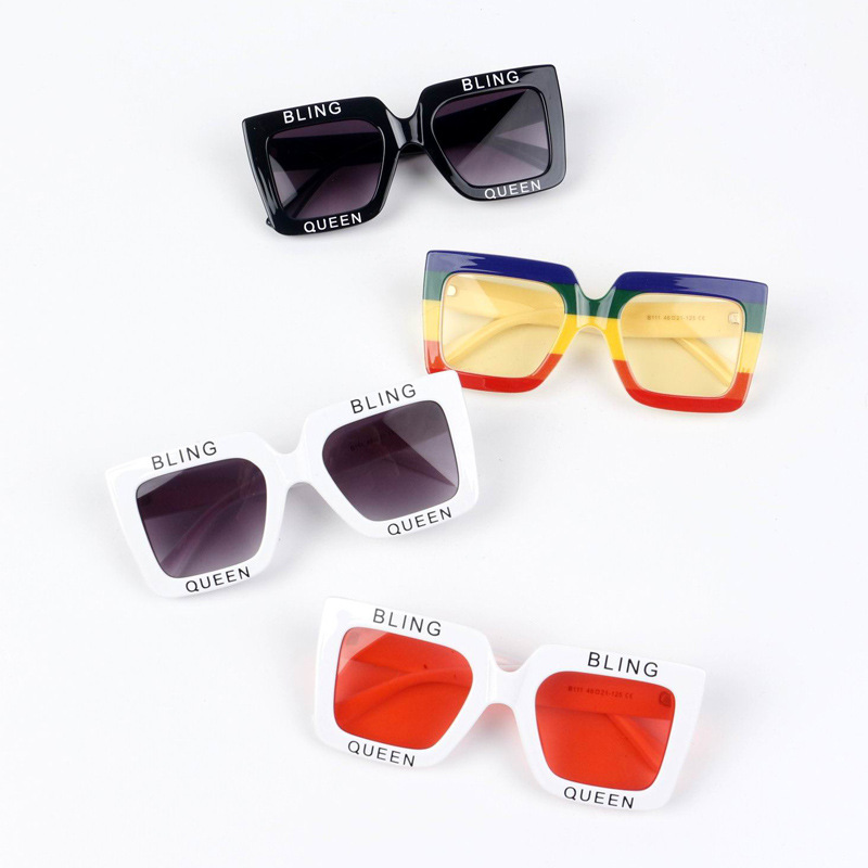 MYT_0111 Children Sunglasses For Boys Oversized Square Frame Kids Comfortable Girls Vintage sunglasses Retro Eyewear