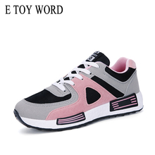 E TOY WORD Women Sneakers Spring Atumn Breathable Casual Shoes platform Tenis Feminino Lace Up Vulcanize Shoes basket femme fooraabo spring women shoes 2018 new fashion red black platform sneakers women casual shoes harajuku basket femme tenis feminino