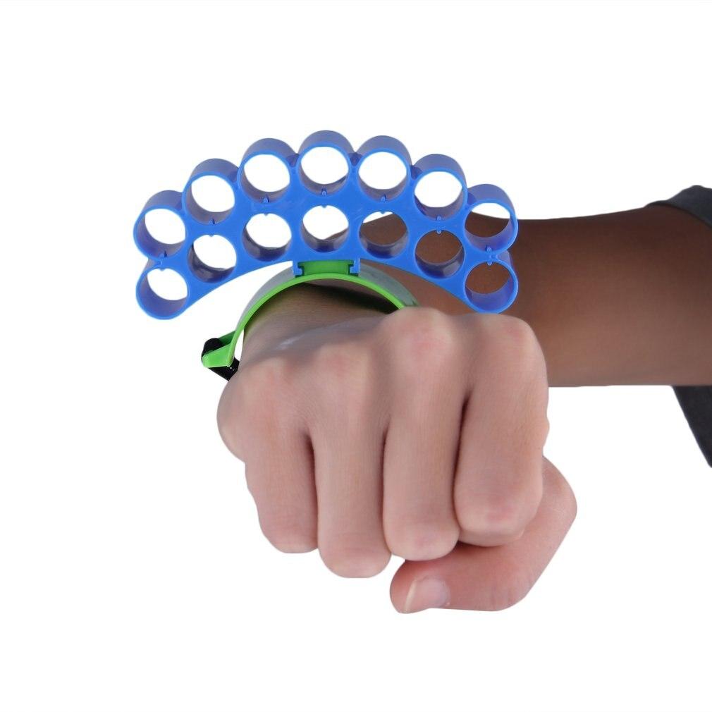 2018 Hot Outdoor Tactical Hunting Bullet Holder Bracelet Hold 14 Soft Bullets Cartridge Hand Belt For NERFN-strike Toys Gun