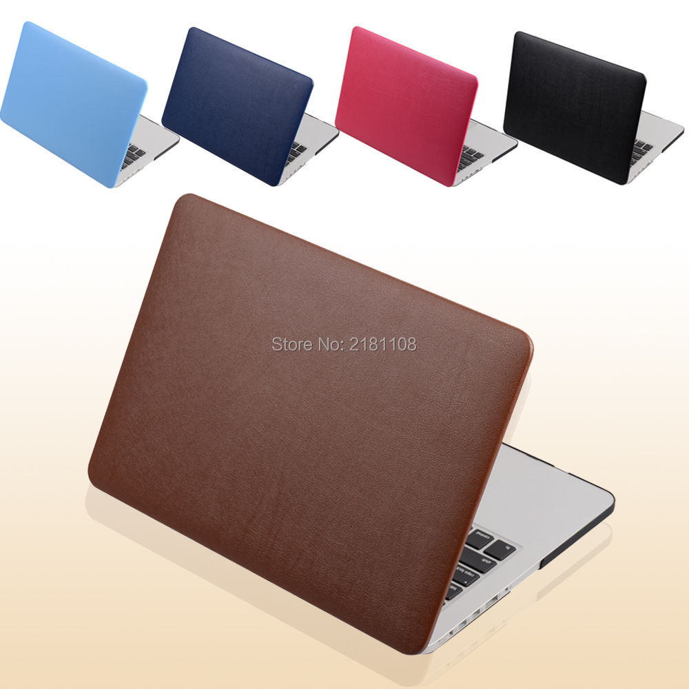 PU Leather Coated Protect Sleeve Laptop Case Cover  For MacbooK Air 13 11 Pro 13 Retina 12 15  A1398 A1278 A1502 A1932 2018
