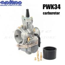 цена на 34mm PWK 34 Carburetor carbs For Keihi HONDA SUZUKI KAWASAKI YAMAHA KTM ATV 100cc to 200cc engine