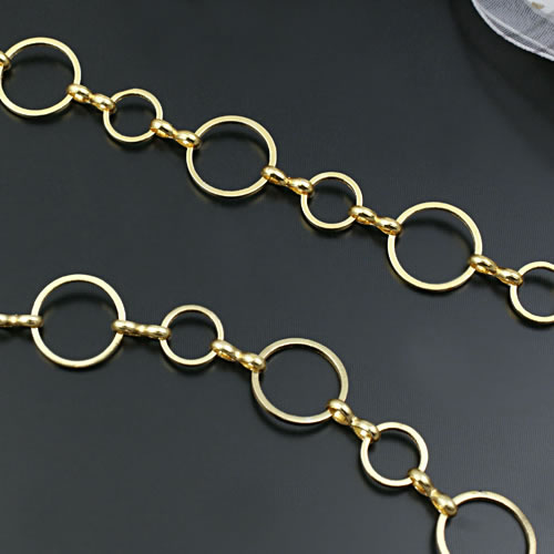 (21498)1 метр 12 мм + 8 круглые замкнутые кольца звеньевые цепи