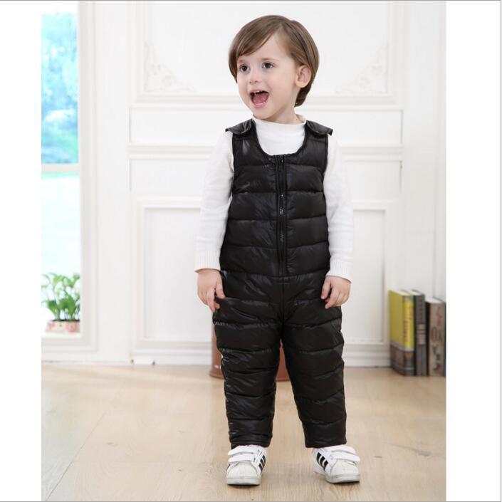 6d001f061ed0 SexeMara 2017 winter children kids duck down bib pants overalls ...