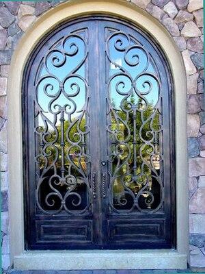 Best Selling Double Wrought Iron Doors Interior Doors TCD 0174
