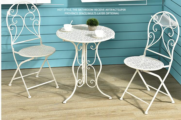 Outdoor balcony desk chair. Three-five-piece set of desk and chair. Leisure folding desk and chair. Coffee table