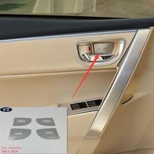 Авто Дверь внутренняя чаша наклейка Интерьер Литье для toyota Corolla-, 4 шт./лот, автомобильные аксессуары