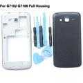 Новая Батарея Дверь Задняя Крышка Крышка Для Samsung Galaxy Grand 2 Duos G7102 G7106 Полный Жилищно Ближний Рамка Бесплатные Инструменты