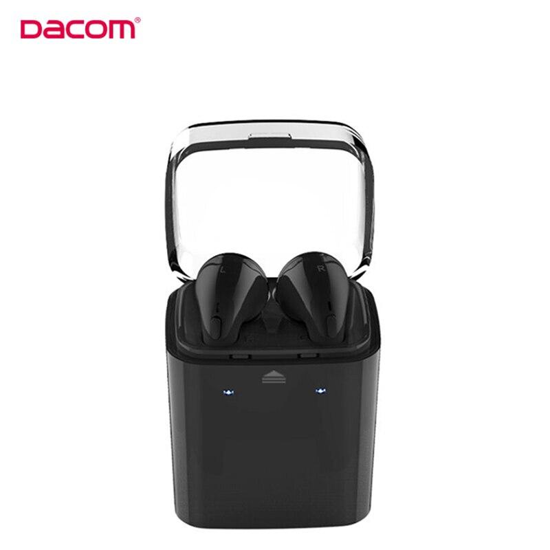 Original Dacom 7s Wireless Bluetooth Headset True Wireless Twins Sport Earphone for iPhone 7 7S 6 6S 5S 5C cellphone Headphone remax 2 in1 mini bluetooth 4 0 headphones usb car charger dock wireless car headset bluetooth earphone for iphone 7 6s android